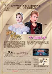 宝塚歌劇団 雪組 富山公演 2017 フライヤー